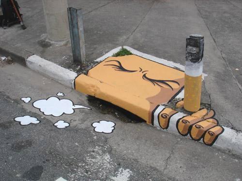 bouche egout fumeur street art communication et publicit metz et thionville. Black Bedroom Furniture Sets. Home Design Ideas