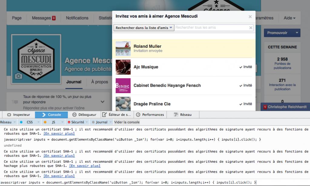 Comment inviter ses amis facebook sur une page en un clic for Ouvrir fenetre javascript
